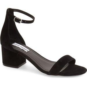 Steve Madden Irene Suede Black Sandals